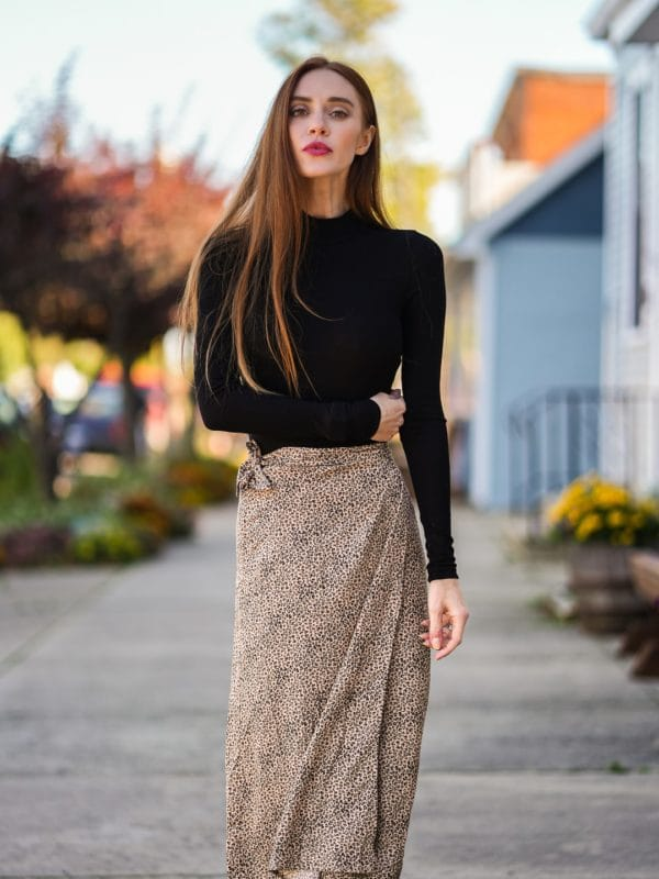 slip skirt-look