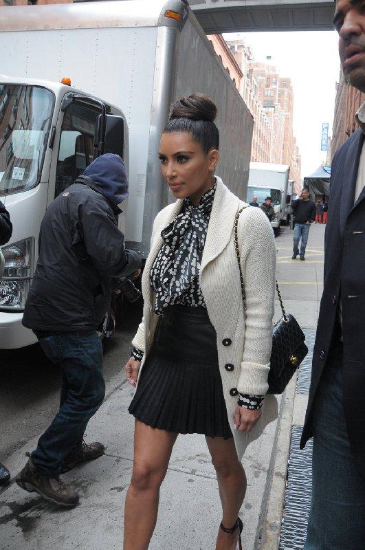 Le style Kim Kardashian - Manteau blanc