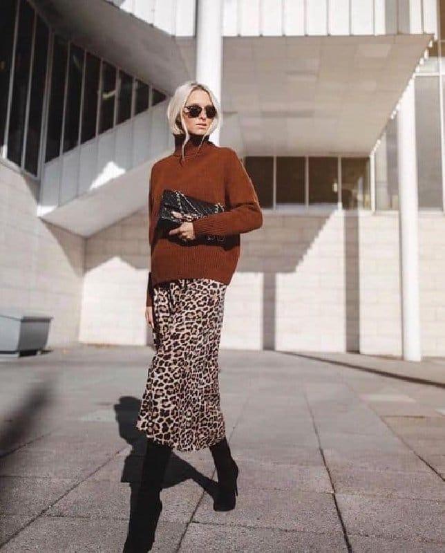 jupe leopard pull