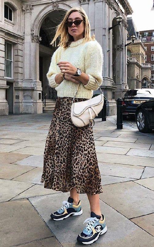 jupe leopard basket