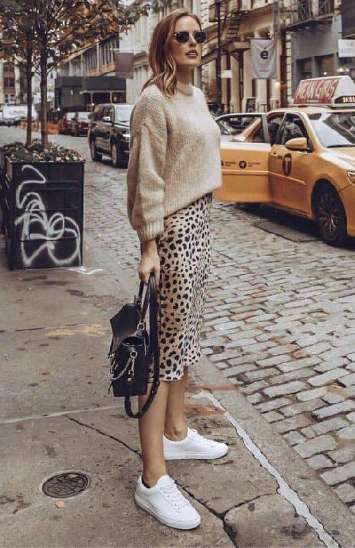 jupe leopard basket pull