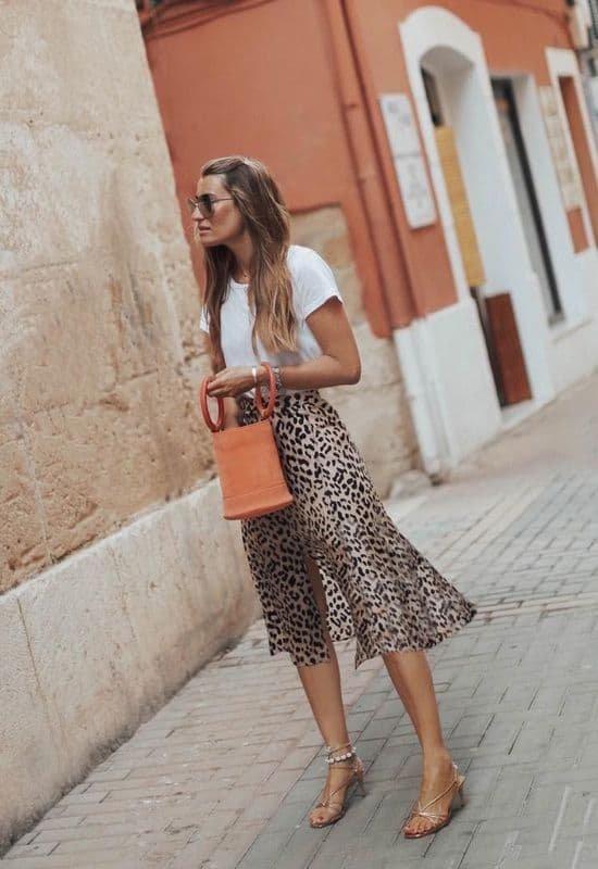 jupe leopard