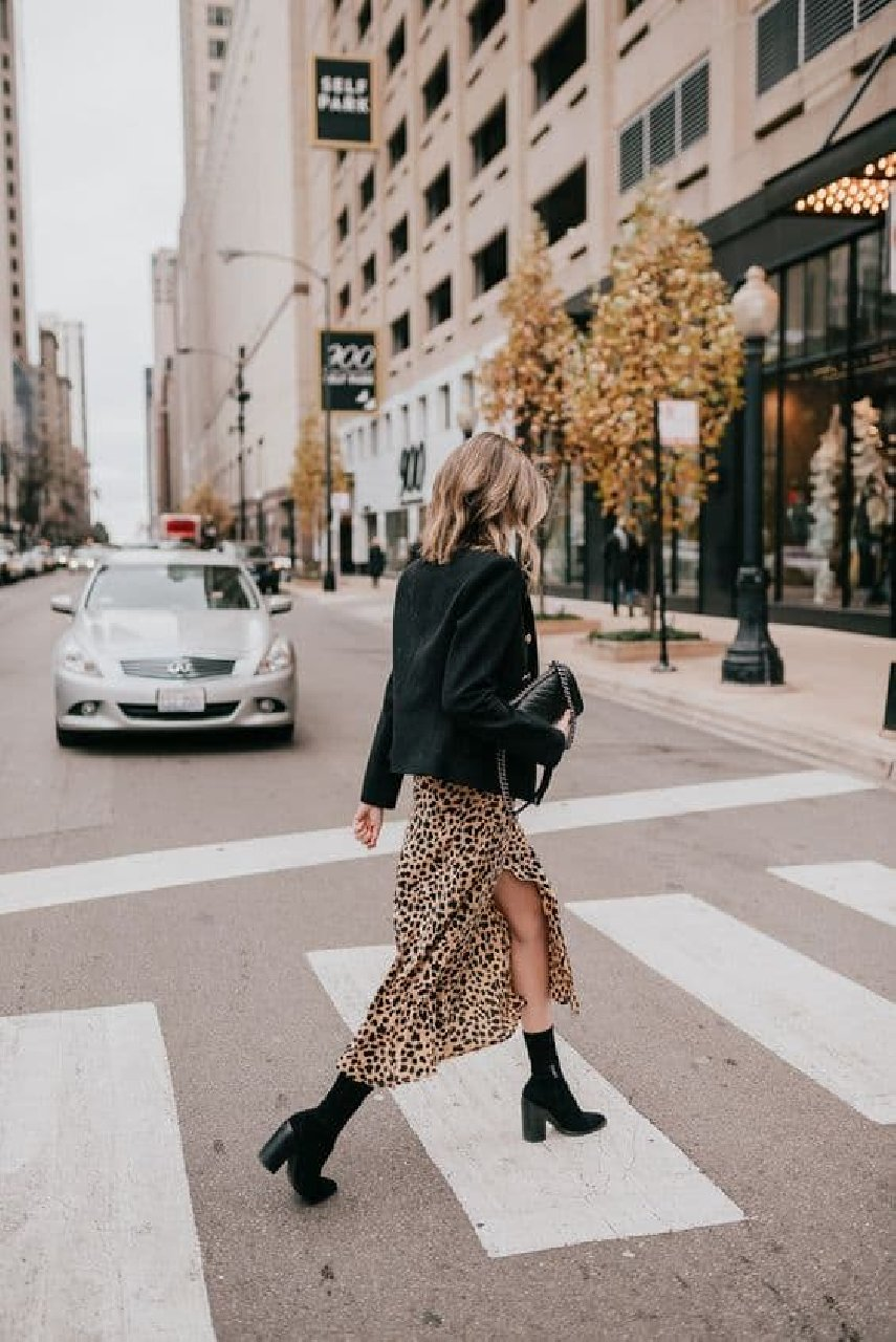 jupe leopard blazer