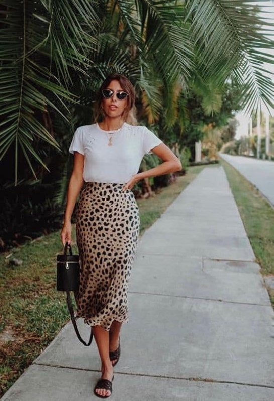 jupe leopard tshirt